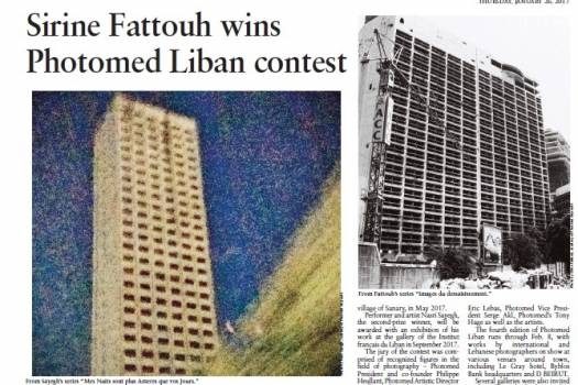 Sirine Fattouh wins Photomed Liban contest