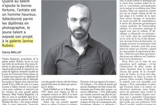 Tarek Haddad a la recherche de l'abstraction du cercle