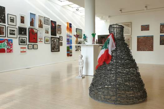 Beirut Art galleries stage shows featuring Lebanon's uprising