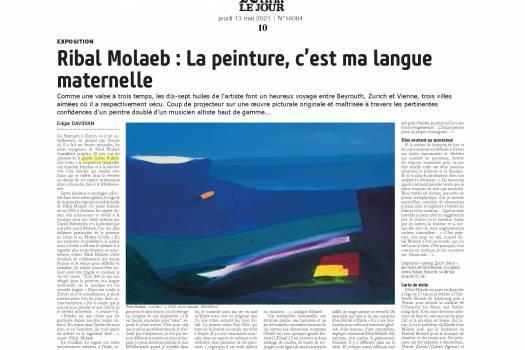Ribal Molaeb : La peinture, c'est ma langue maternelle